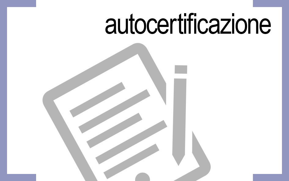 AUTOCERTIFICAZIONE