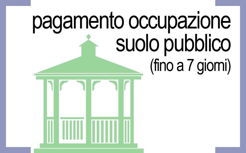 PAGAMENTO OCCUPAZIONE SUOLO PUBBLICO