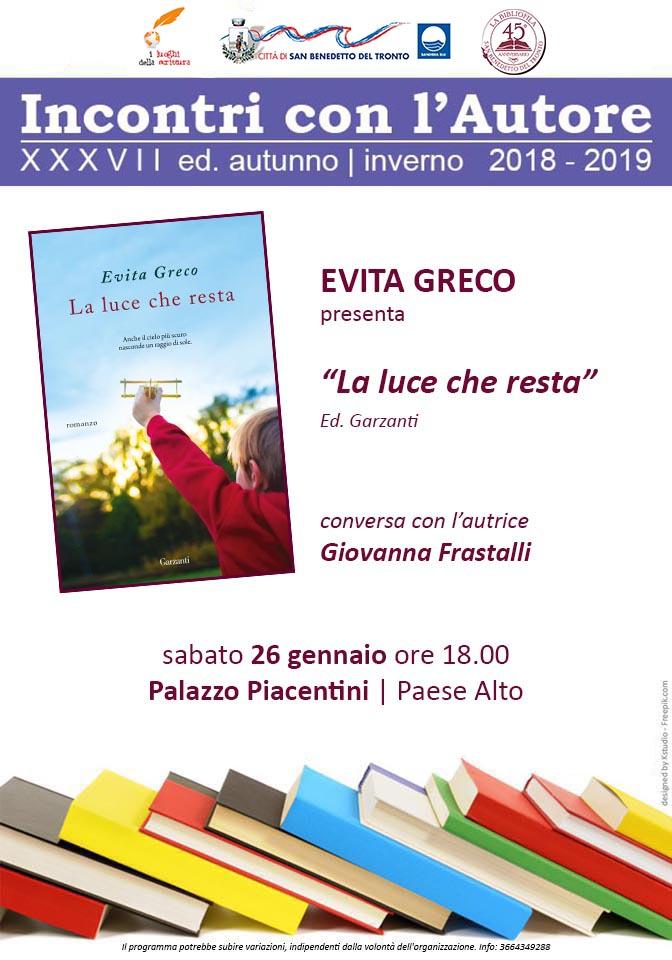 Incontri con l'autore - Evita Greco