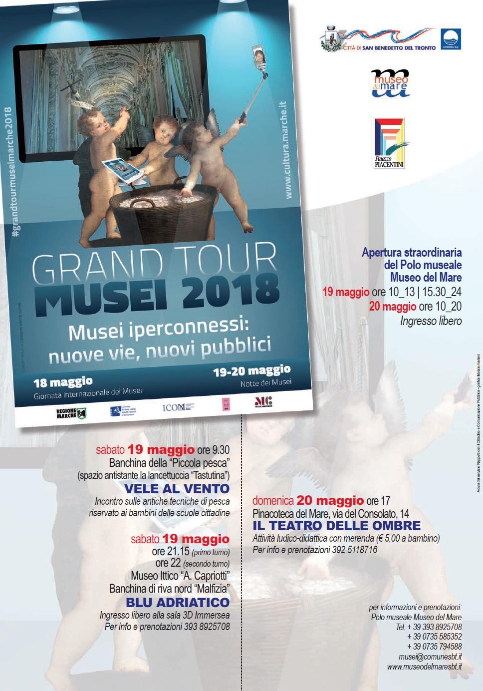 grand tour musei 2018