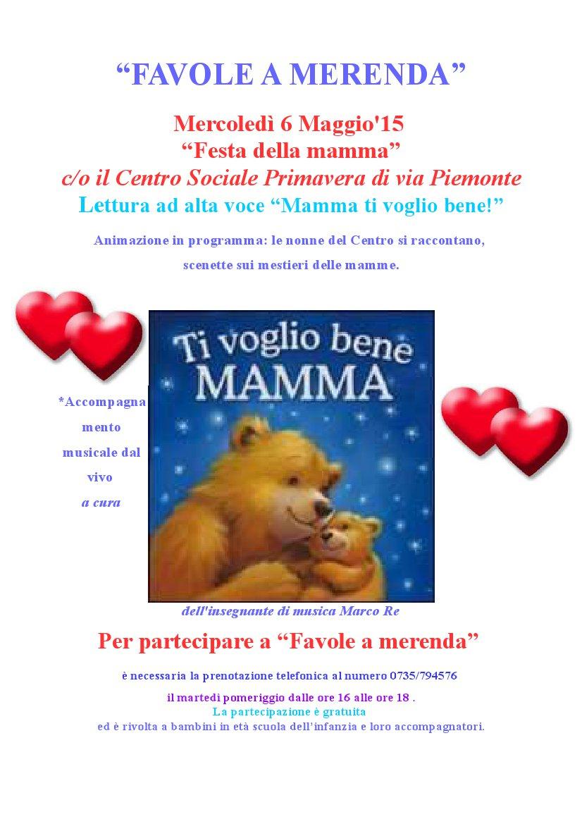 La locandina della puntata dedicata alla mamma