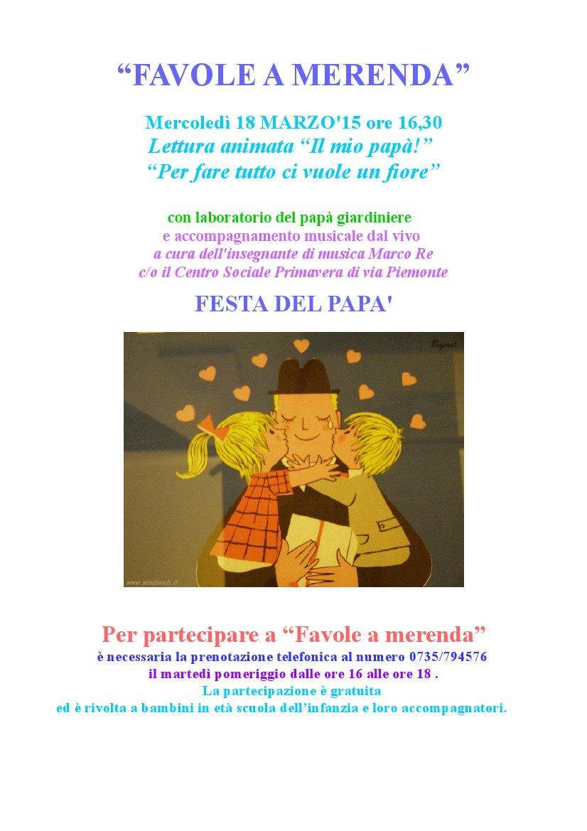"""La locandina della puntata dedicata alla """"Festa del Papà"""""""