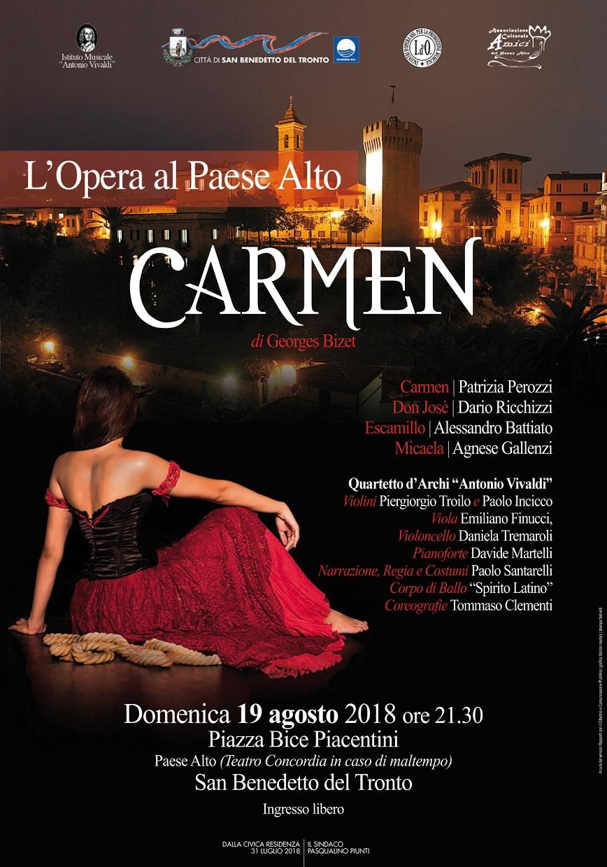 "L'opera al Paese Alto ""Carmen"" di G. Bizet"