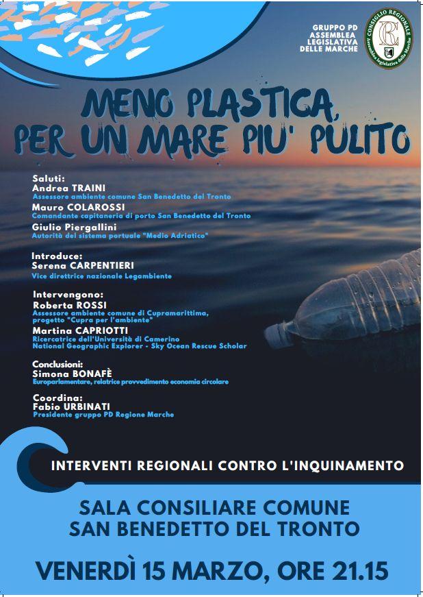 Meno plastica per un mare più pulito