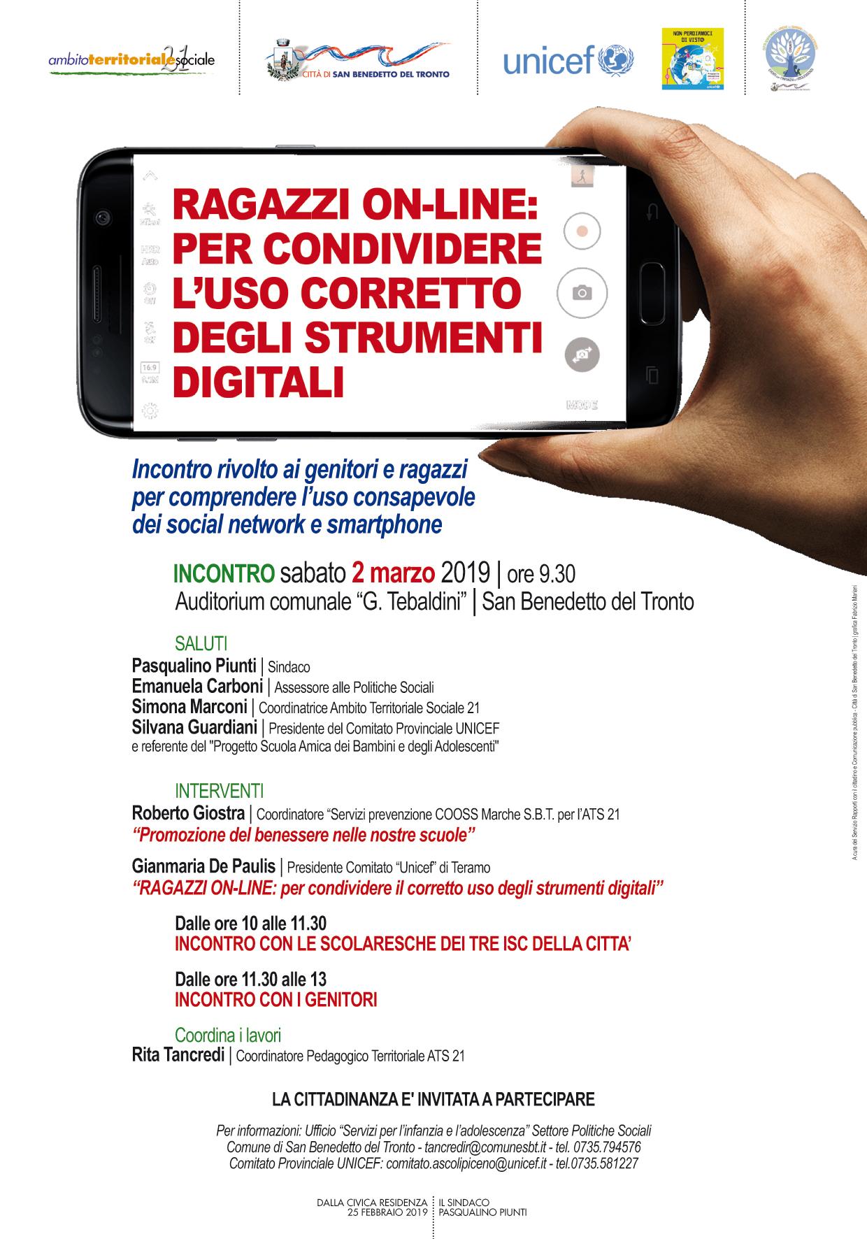 Ragazzi on-line: per condividere l'uso corretto degli strumenti digitali.