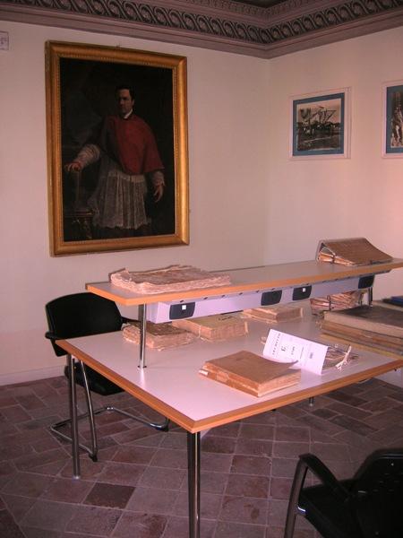 La sala per la consultazione