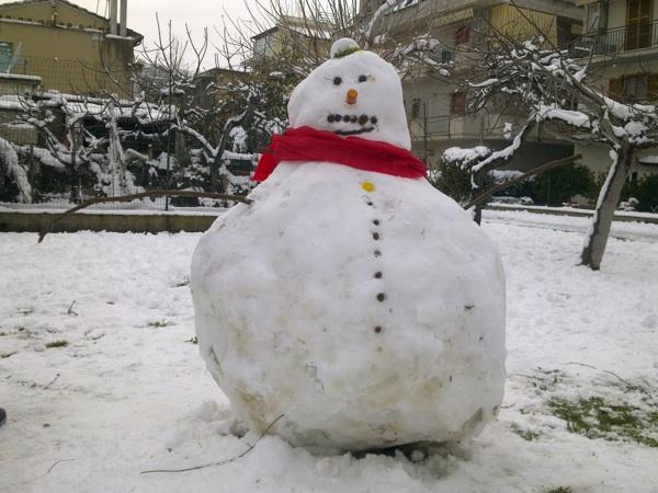 La città sotto la neve