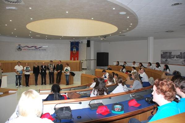 Le foto dell'incontro in Comune