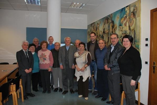 La delegazione con l'Assessore Urbinati