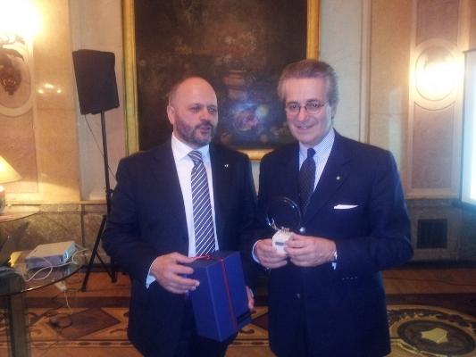 Gaspari con Antonio Zanardi Landi, ambasciatore italiano a Mosca