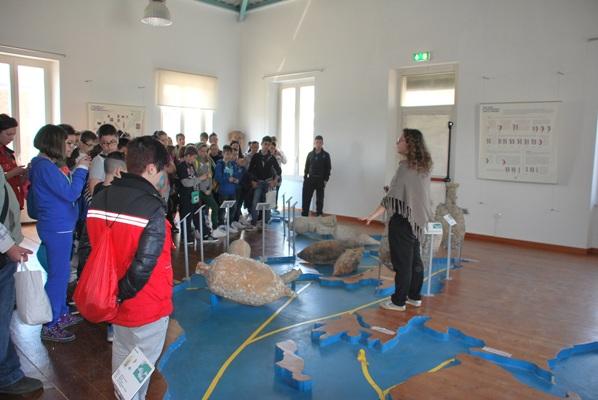 Uno scatto dell'Educational tour al Museo del Mare