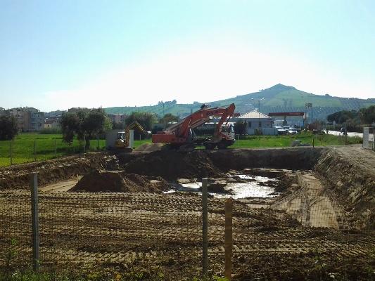 I lavori in via Monteconero