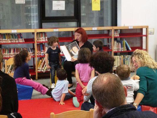 Alcuni momenti dell'incontro in Biblioteca
