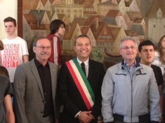 L'assessore Curzi con il sindaco di Steyr