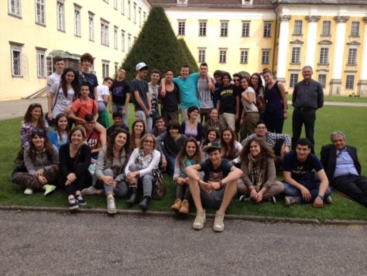 La delegazione in visita a Steyr