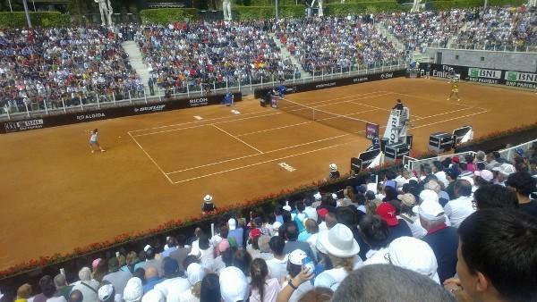 Uno scatto degli Internazionali di tennis al Foro Italico