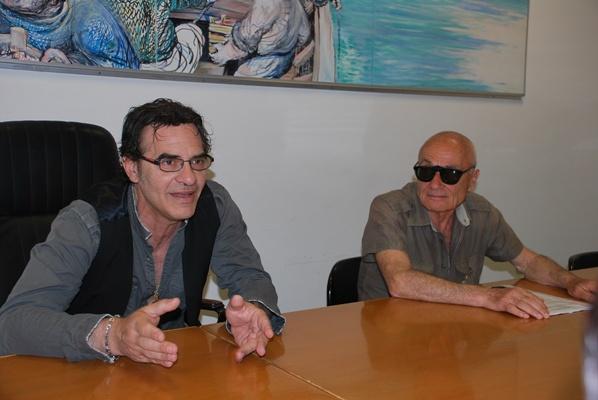Francesco Baccini nell'incontro con la stampa