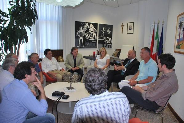 Un momento dell'incontro con la delegazione argentina