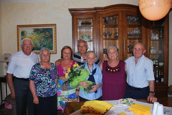 Argentina Maroni con la famiglia