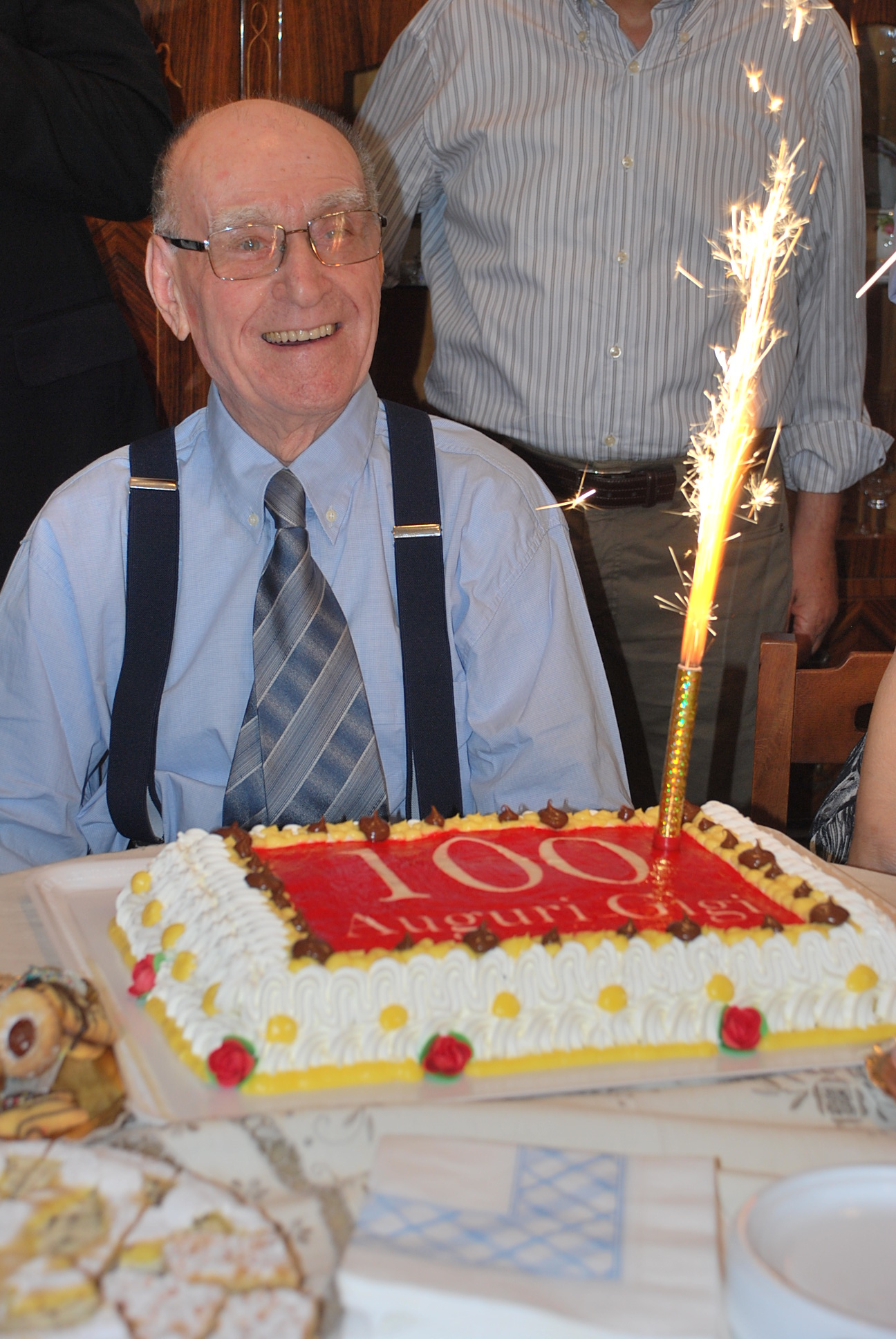 Alcuni momenti dei festeggiamenti dei 100 anni di Luigi Evangelisti