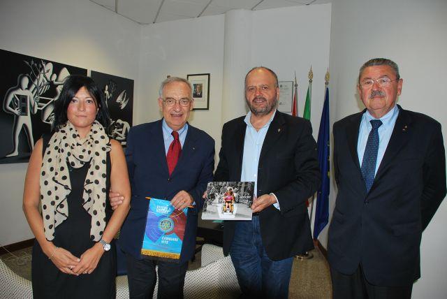 Il Sindaco con il Governatore Rotary Falasca