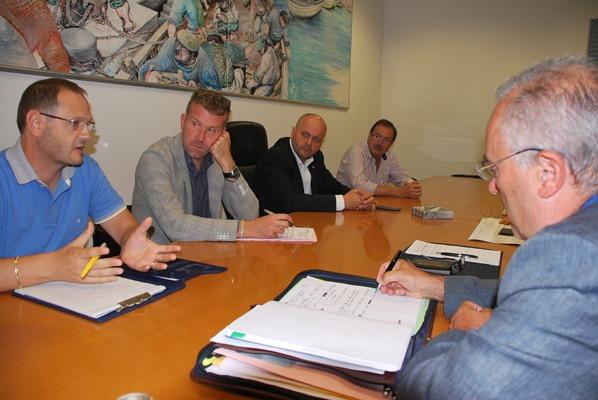 Una foto dell'incontro tra Comune, CIIP e Ato