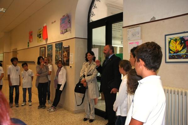 """La visita del Sindaco Gaspari alla scuola """"Sacconi"""""""