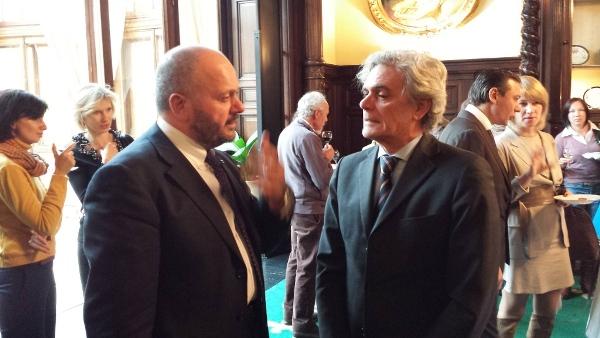 Il Sindaco Gaspari con l'ambasciatore italiano a Mosca