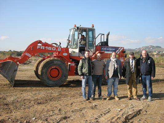 L'inizio dei lavori per i campi da rugby all'Agraria