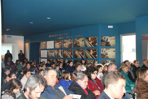 Alcuni momenti dell'inaugurazione della sala 3D al Museo Ittico
