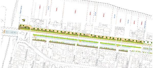 La planimetria del progetto definitivo del lungomare Nord presentato ieri agli operatori turistici