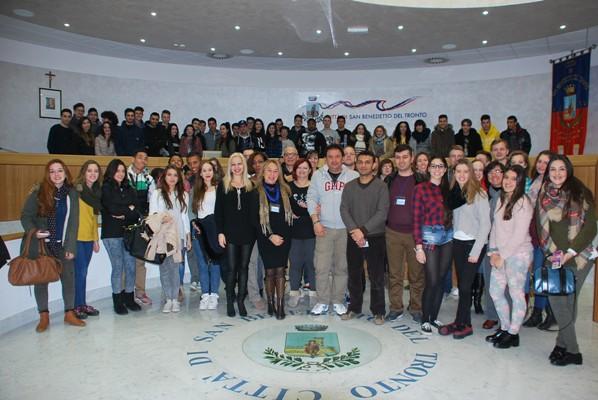 Ecco gli studenti del progetto Comenius ricevuti in Municipio