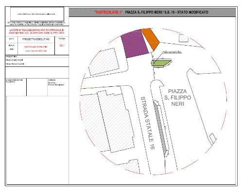 Il restyling di piazza San Filippo Neri e della Statale Adriatica