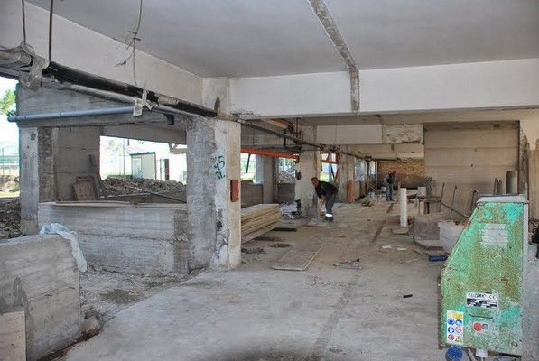 I lavori all''interno dell'edificio