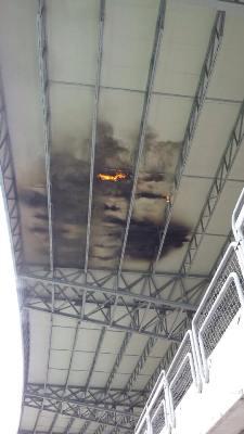L'incendio sui pannelli fotovoltaici del Riviera delle Palme