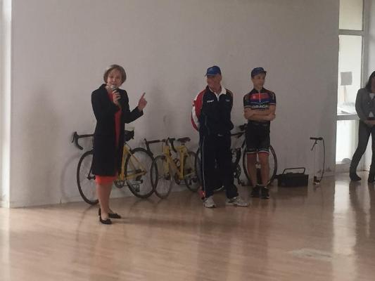 """Alcune foto della mattinata di educazione al ciclismo alla scuola """"Alfortville"""""""