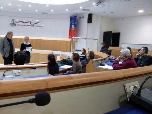 """Alcuni momenti della riunione dell'Osservatorio permanente comunale del progetto """"Città Sostenibili e Amiche dei Bambini e degli Adolescenti"""""""