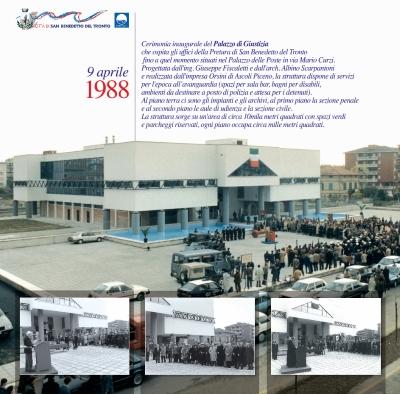 L'inaugurazione del Palazzo di Giustizia nel 1988