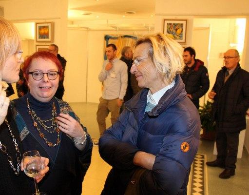Alcune immagini dell'inaugurazione della mostra di Maria Franca Fanni