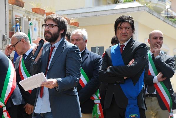 L'intervento di Francesco Maria Anzivino durante la cerimonia del 25 aprile 2015
