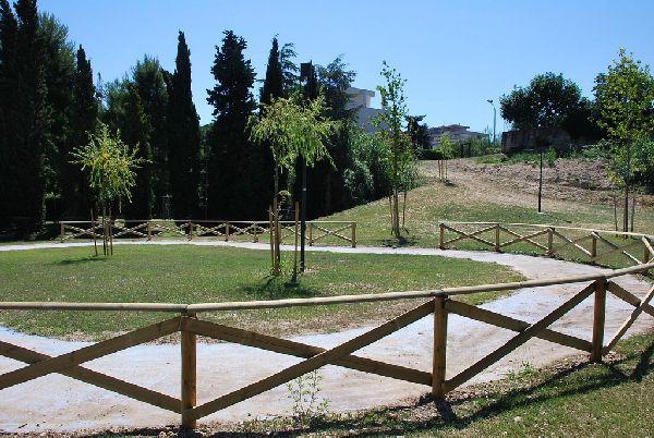 Le diverse zone del parco in via di ultimazione
