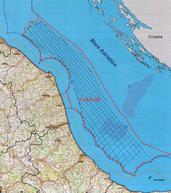 L'area di mare interessata dalle prospezioni