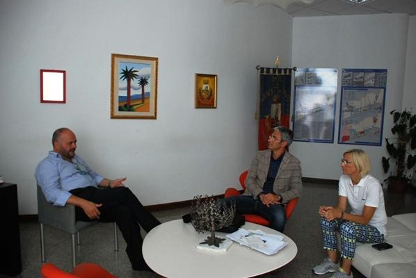 L'incontro tra Sindaco, Assessore Sorge e il dirigente dell'Isc Sud Ado Evangelisti