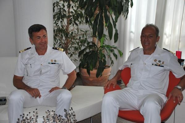Alcune immagini della visita istituzionale del nuovo comandate della Capitaneria di Porto Gennaro Pappacena e dell'ex comandante Sergio Lo Presti