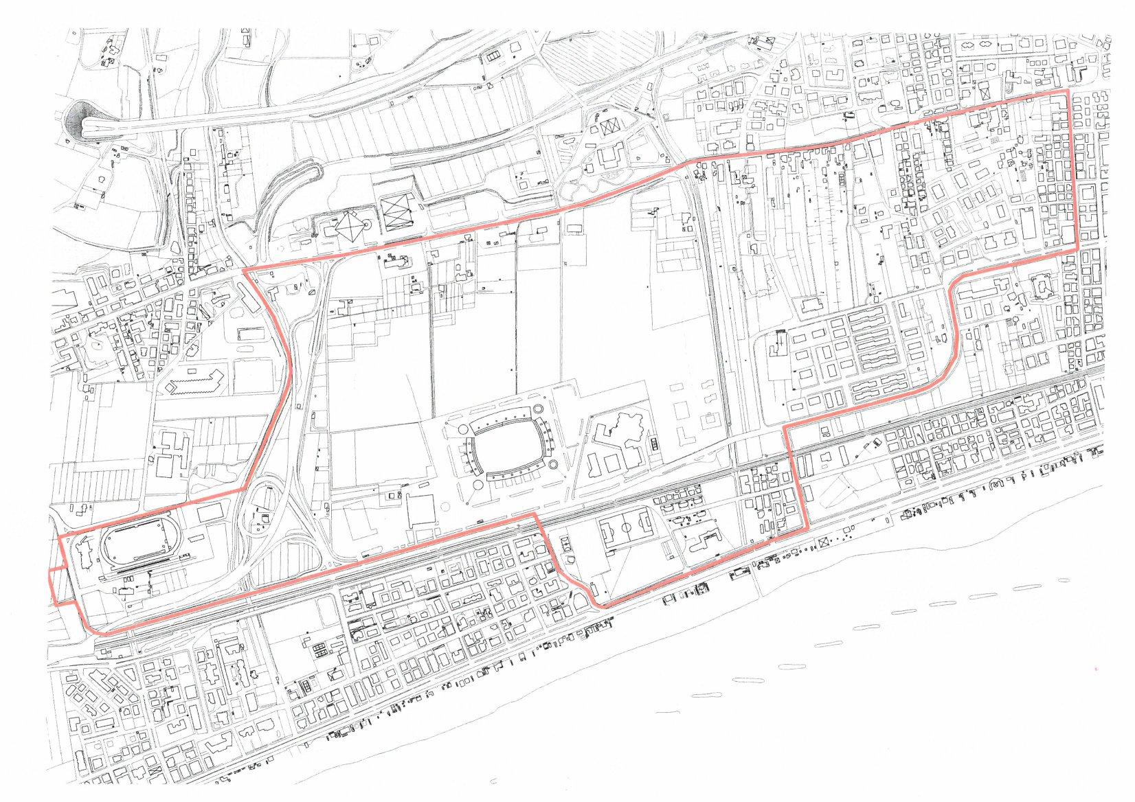 """La planimetria dell'area intorno al """"Riviera delle Palme"""" interessata dal divieto"""