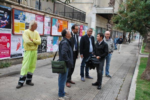 """Alcune foto del sopralluogo effettuato questa mattina nell'ambito dell'operazione """"Decoro Urbano"""""""