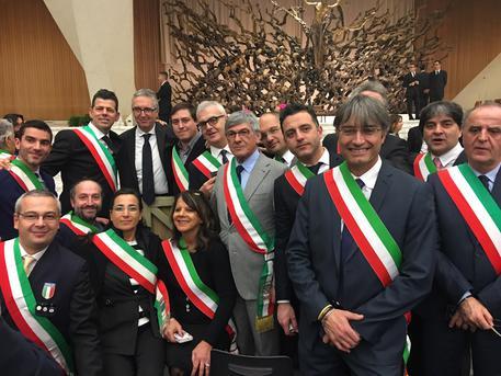 Gli amministratori marchigiani in udienza dal Papa