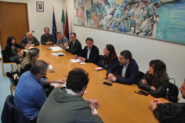 Duye momenti della conferenza stampa di presentazione del piano