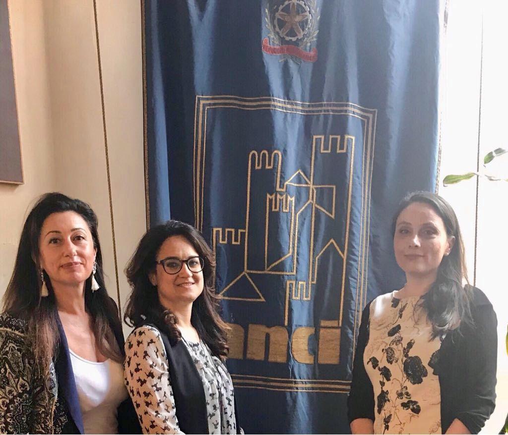 La delegazione del Comune all'incontro di Roma