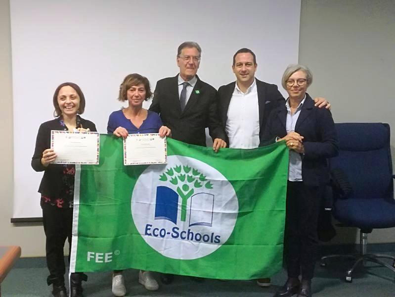 I tre ISC premiati con la bandiera verde